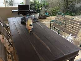 Patio table. seater.