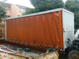 7m tautiner loadbody with dropside