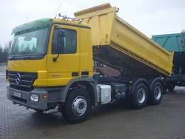 Mercedes Actros Tipper Truck 2644 Engine 11946 Cc Colour Yellow 2007