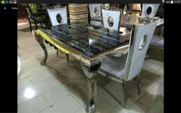 Marble dining table for 6setter still
