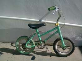 Small Child Bike with trainer wheels