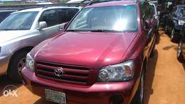 One year used Toyota Highlander 06 buy n travel tincan cleared