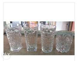 4 different types of crystal glasses