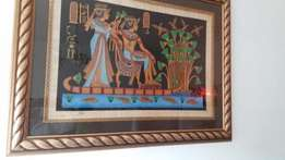 Egyptian painting in frame