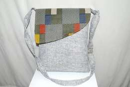 Woven African hanging bag