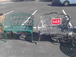 sale now on 2 seated patio benches
