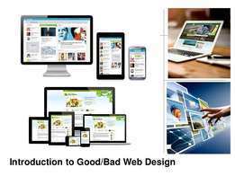 We offer website design and development services