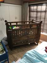 Large solid wood cot