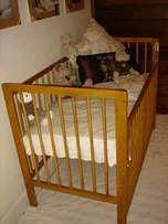Baby cot, imported, solid wood