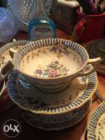 Vintage china like this Spode soup set cup and saucer