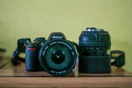nikon d3100 witth two lens