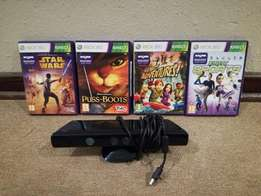 XBox 360 Kinect Console and games