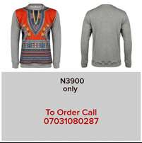 African print grey sweater for sale