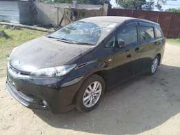 Toyota wish with alloy rims