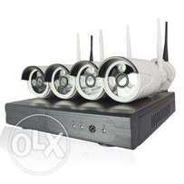 4channel wifi network cameras and its full accessories