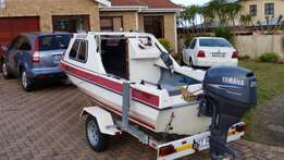 Sportster cabin boat with Yamaha 25 hp four stroke for sale  Summerstrand