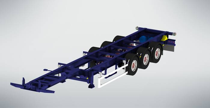 new gut  cs-453gn container chassis semi-