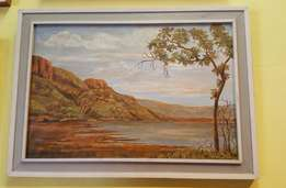 SA artist J E Beyers watercolour