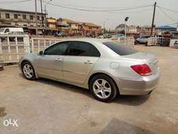 A Lagos cleared 2005 Acura RL, v6 engine, leather, ac, 6cd loader.