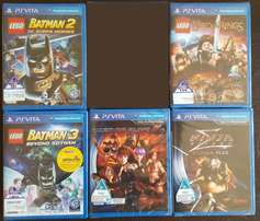 **BARGAIN** 5 X PS VITA GAMES ( brand new sealed ) R999 all or R200ea