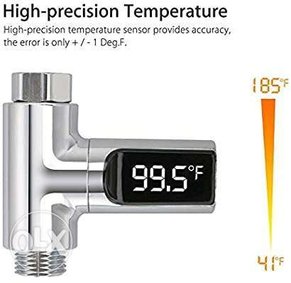 LED Digital Shower Celsius Temperature Display Water Thermometer