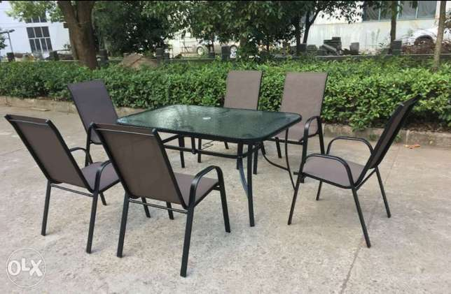 Brand New Patio Glass Table Dining set