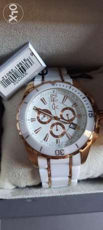 Guess GC X76003G1S White Ceramic Rose Gold Mens Wrist Watch