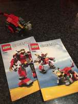 lego prehistoric hunter 3in1 and rescue robot 3in1