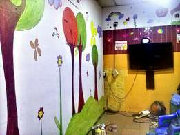 Interior wall art painting and decoration