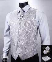 Waistcoat and cravat set in various colors and sizes