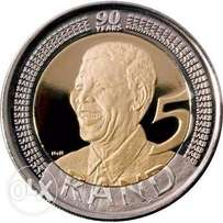 Mandela Ungraded uncetcilated Coins