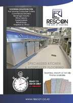 Rescon floor coatings and seamless waterproofing systems