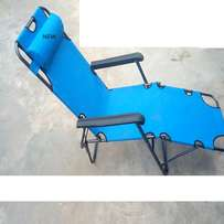 H & S Foldable Lounge Chair - Blue