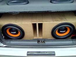 """Targa Venom 10"""" Subs and Audiobank 5200w amp (2800rms) For Sale..."""