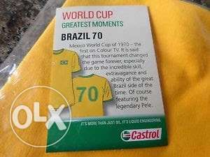 BRAZIL 70 Retro Football Supporter Fan Vintage World Cup T-Shirt L Umoja - image 4