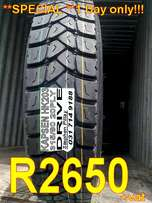 Brand New 315/80 R22.5 20PLY DRIVE Truck Tyres!