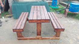 6 Seater table bench for sale