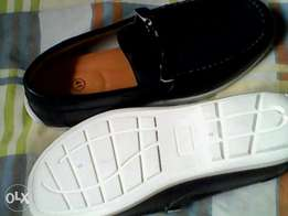 Navy blue loafers, new