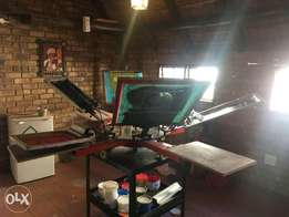 6 Color 4 Station Screen Printing Machine