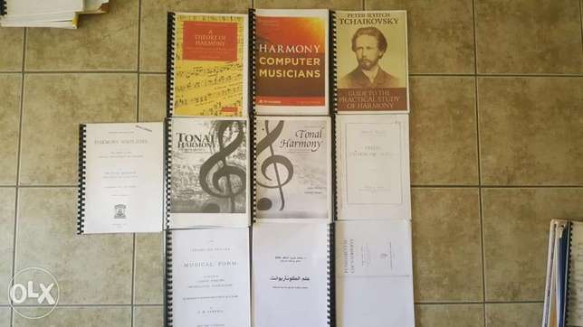 Harmony books and piano composition