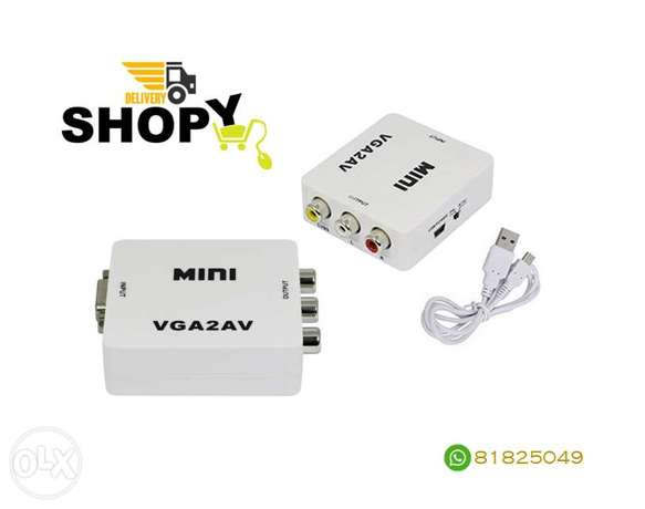 Mini VGA 2 AV Converter Media Streaming Device