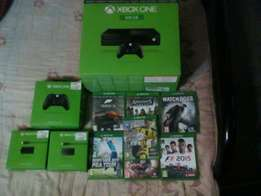 Xbox one + games and controls
