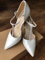 c1f892a6 Rozmiar:38, buty na ślub, ślubne, SKÓRA, ecru. Wygodne!