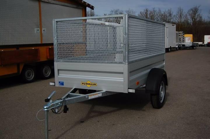 Humbaur H 75 2111 Alu 750 kg mit Gitteraufsatz