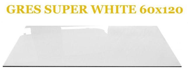 Gres Polerowany Biały 60x120 Rektyfikowanygatunek I Szybka Wysyłka