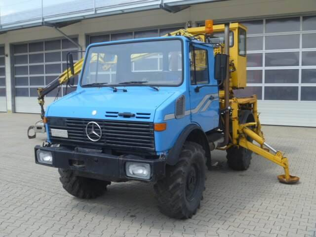 Unimog 1450 - U1450 427 66227 Mit Bagger Mercedes