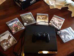 ps3 slim with 6 great games