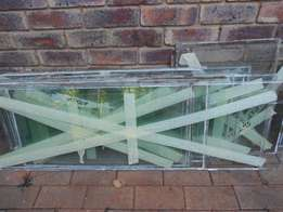 3mm clear glass offcut panes