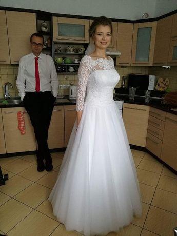Suknia ślubna Biała Elizabeth Passion Rękawki Toruń Olxpl