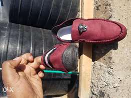 Maroon /Red loafers